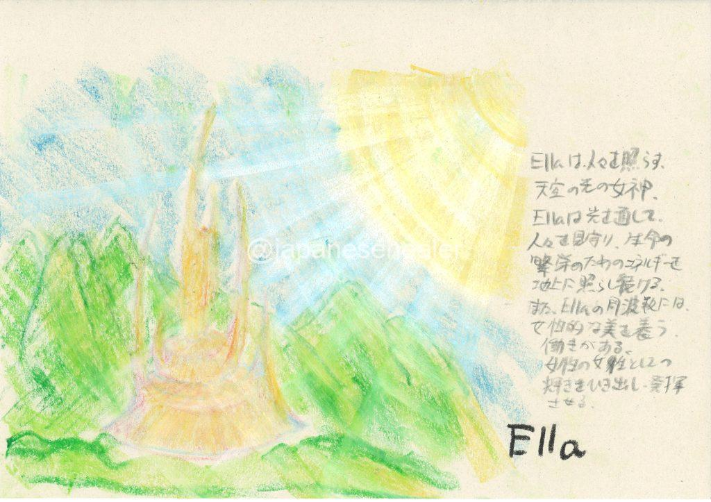 meaning of the name Ella by Name vibration art