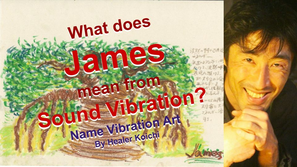What is the name James, meaning by Name Vibration?