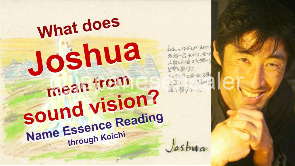 What is the name Joshua, meaning by Name Vibration?