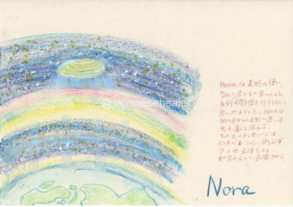 meaning of the name Nora by Name vibration art